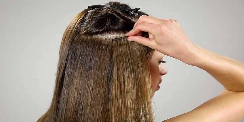 Using Hair Clips In Separating Hair