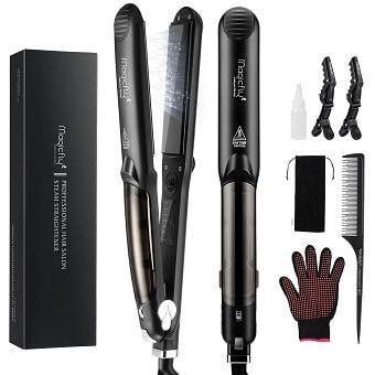 Magicfly Steam Flat Iron Hair Straightener