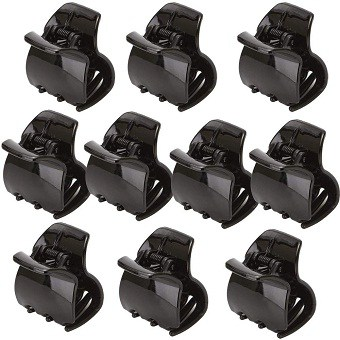 Yishenyishi 10 Pack Black Jaw Clips For Thick Hair