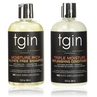 tgin Moisturizing Shampoo and Conditioner